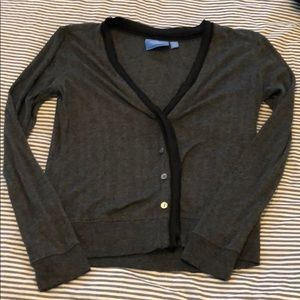 Simply Vera Wang cardi, sz.S, grey/Black.
